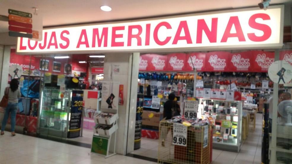 Lojas Americanas — Foto: G1/Emille Rodrigues