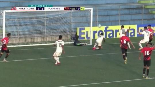 Fla com um pé na semi do Brasileiro sub-17