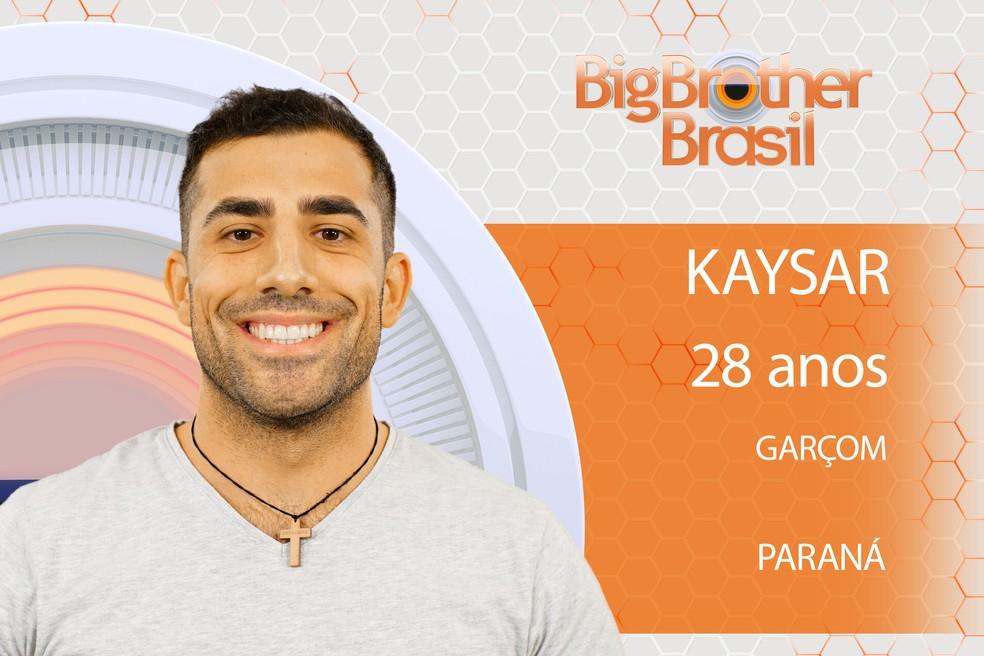 O garçom sírio Kaysar estará no 'BBB18' (Foto: Divulgação)