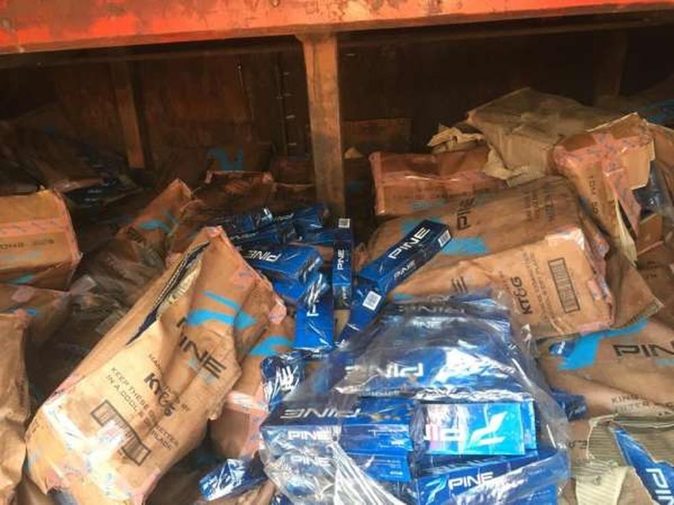 Por se tratar de contrabando internacional, caso é investigado pela Polícia Federal — Foto: PMCE/Divulgação