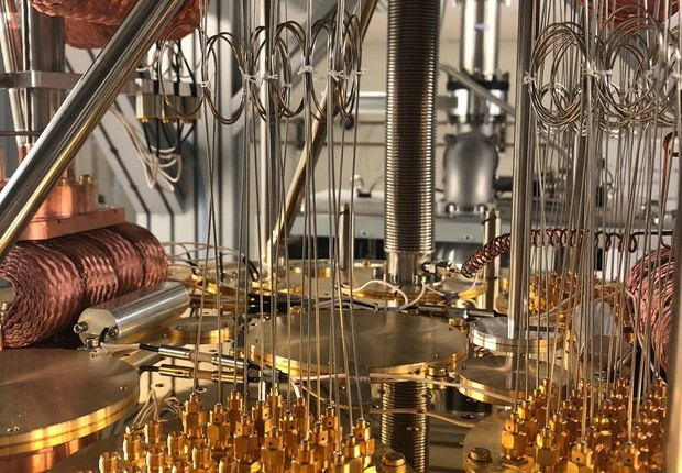 O computador quântico da IBM (Foto: Reprodução/Instagram)