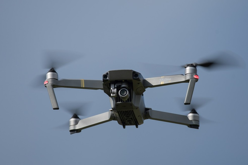 Drone para filmagem Mavic Pro, modelo semelhante ao declarado por candidato ao TSE — Foto: Reprodução
