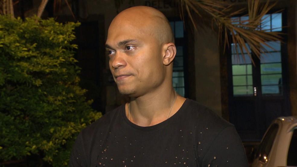 O vendedor Emerson Delgado — Foto: Reprodução/TV Globo