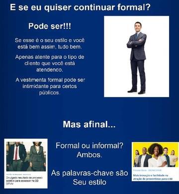 Imagem do guia de vestuário lançado pelo Banco do Brasil neste mês de agosto (Foto: Divulgação)