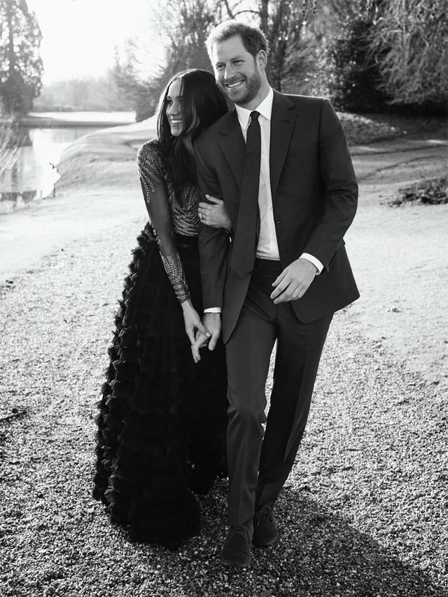 Harry e Meghan: lá vem os noivos (Foto: Divulgação)