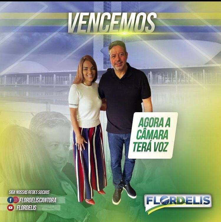 Flordelis, acusada pelo MP pelo assassinato do marido,  posta fotos  com Arthur Lira, o novo presidente da Câmara apoiado por Jair Bolsonaro