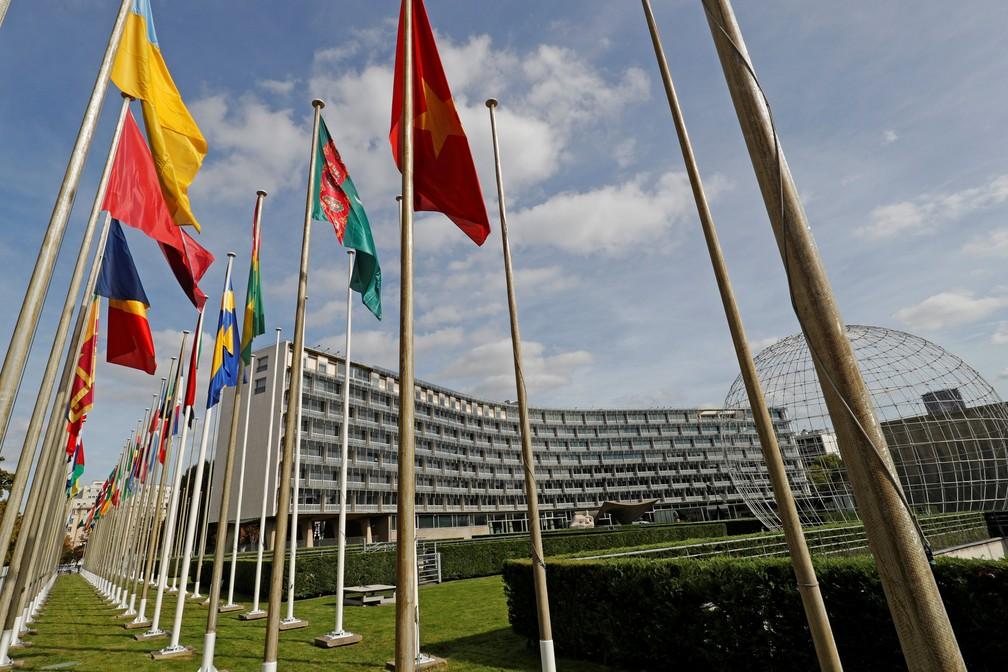 Imagem de arquivo da sede da Unesco em Paris (Foto:  Reuters/Philippe Wojazer)