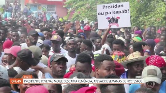 Presidente do Haiti descarta renúncia após protestos
