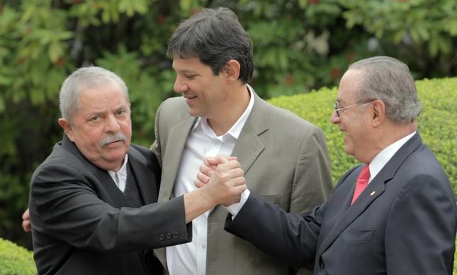 Lula, Haddad e Maluf