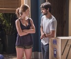 Eliza (Marina Ruy Barbosa) e Jonatas (Felipe Simas) em Totalmente demais | TV Globo