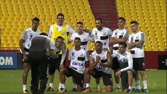 Santos acerta os últimos detalhes para duelo contra o Barcelona-EQU