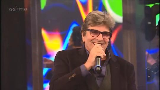 Faustão participa de gravação com Evandro Mesquita em 'Espelho da Vida'; veja bastidores