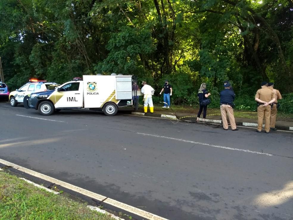 Segundo a polícia, a vítima era a principal suspeita da chacina que ocorreu em março, em Foz do Iguaçu — Foto: William Brisida/RPC