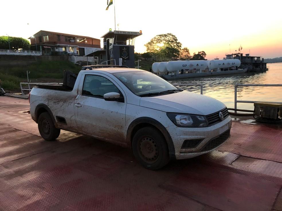 Carro roubado em Porto Velho é encontrado na Bolívia — Foto: Divulgação/Polícia
