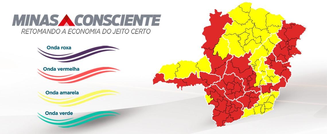 Duas macrorregiões de Minas Gerais avançam para a onda amarela do Minas Consciente