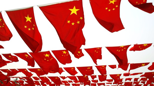 Bandeiras da China (Foto: China Photos/Getty Images)