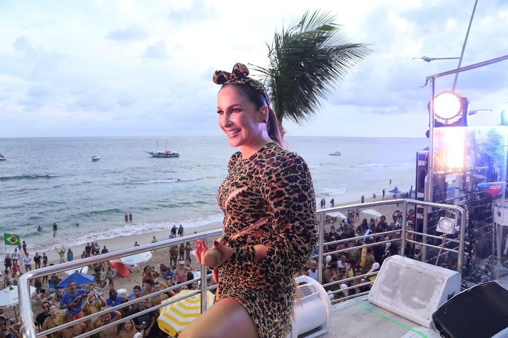 Claudia Leitte na Barra. — Foto: Júnior Improta/Aghaack