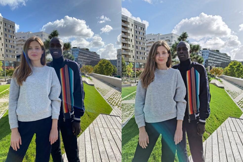 Comparação entre imagem tirada pelo iPhone 11 Pro Max (esquerda) e o Huawei Mate 30 Pro — Foto: Reprodução/DXOMark