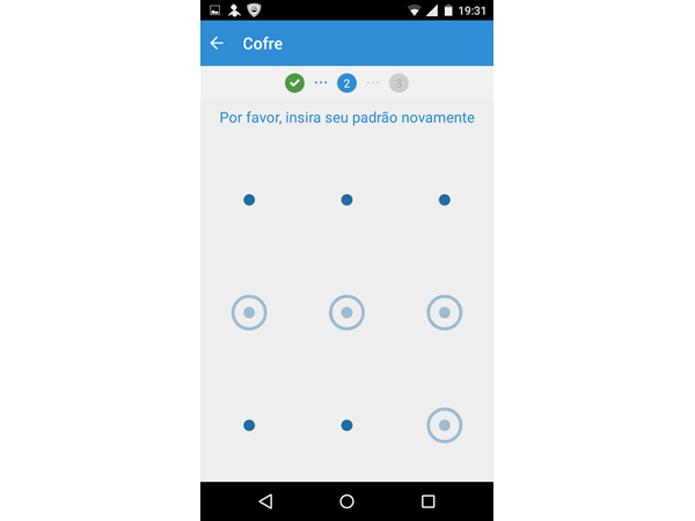 Confirmando a senha padrão no PSafe Total para Android (Foto: Reprodução/Teresa Furtado)
