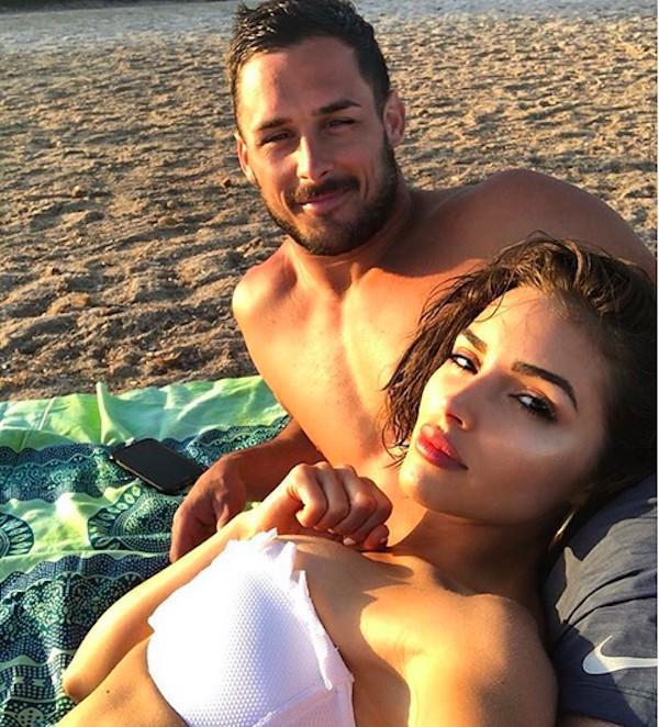 A atriz, modelo e ex-Miss Universo Olivia Culpo e o jogador de futebol americano Danny Amendola  (Foto: Instagram)