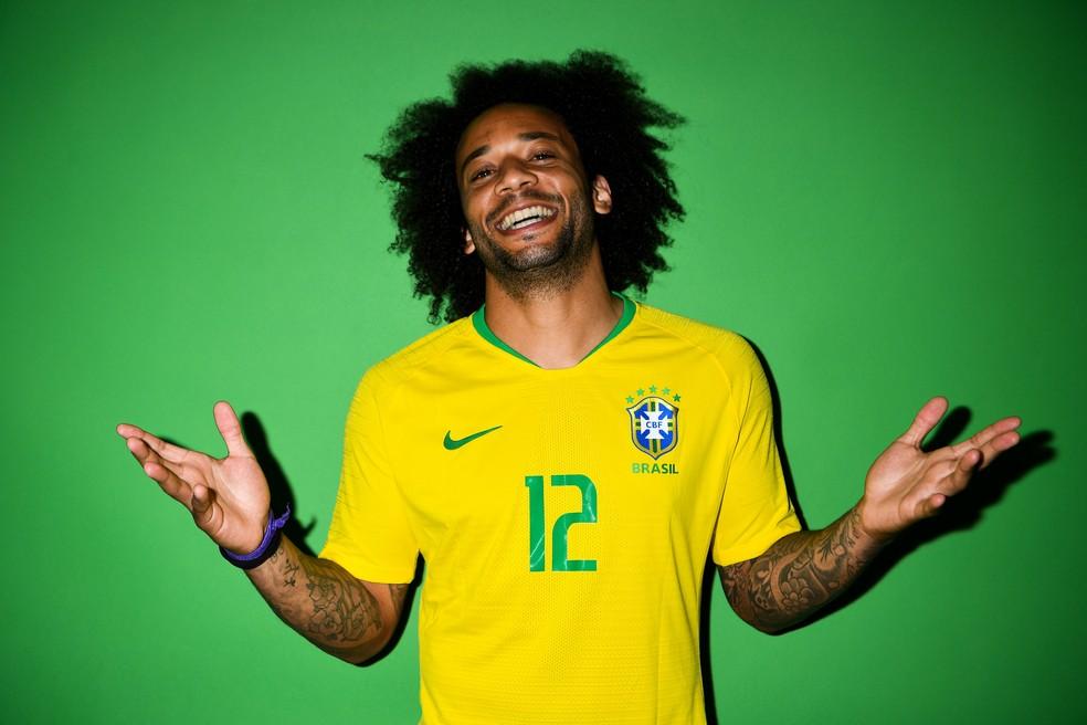Marcelo - Seleção Brasileira - Fotos oficiais (Foto: David Ramos - FIFA/FIFA via Getty Images)