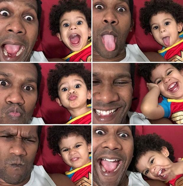 Série de imagens de André Luiz Miranda e Beatriz: foto usada na postagem-relato (Foto: Reprodução / Instagram)