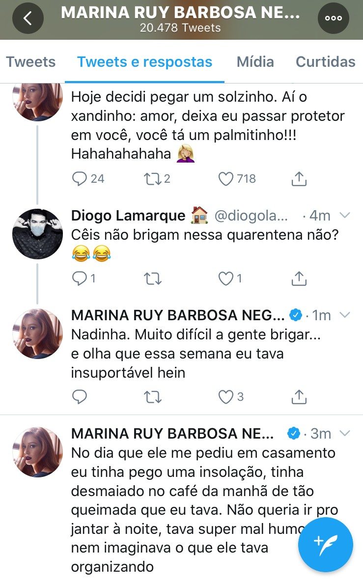 Marina Ruy Barbosa no Twitter (Foto: Reprodução)