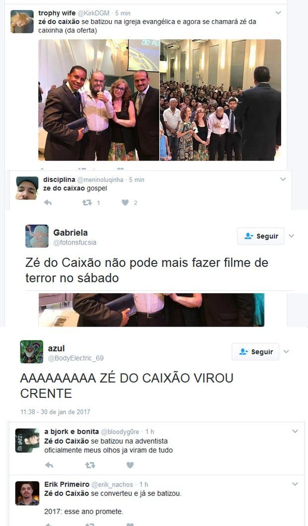 Zé do Caixão (Foto: Twitter / Reprodução)