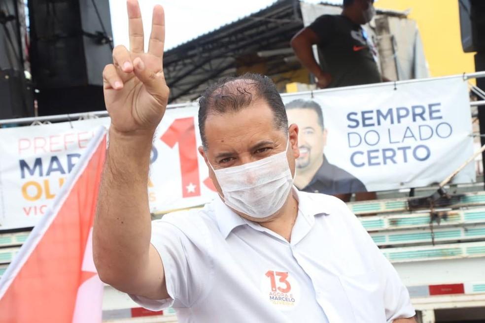 Marcelo Oliveira, do PT, é eleito prefeito de Mauá com 50,74% dos votos — Foto: Reprodução/Facebook