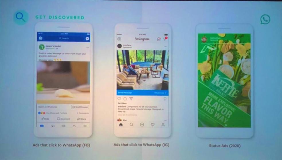 WhatsApp confirma data de chegada dos anúncios nos Stories e outros formatos de publicidade — Foto: Reprodução/Twitter (Olivier Ponteville)