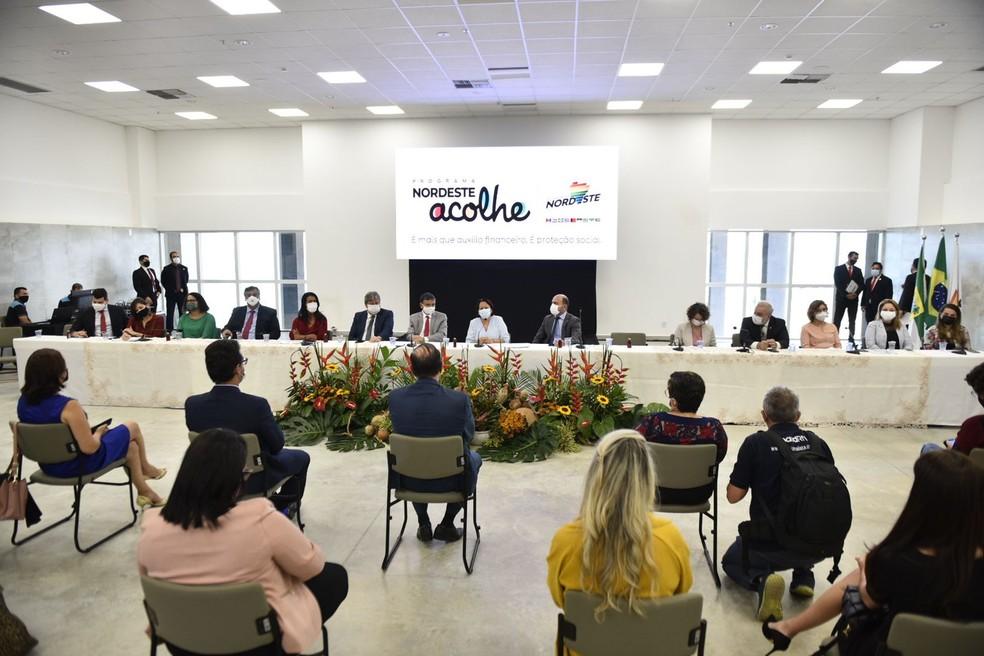 "Natal sedia lançamento do Programa ""Nordeste Acolhe"", do Consórcio Nordeste — Foto: Elisa Elsie"