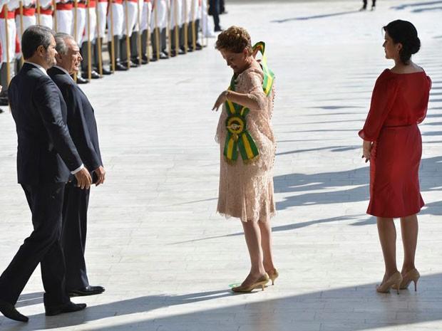 A presidente, atualmente afastada, Dilma Rousseff após receber a faixa presidencial em janeiro de 2015 (Foto: Wilson Dias / Agência Brasil)