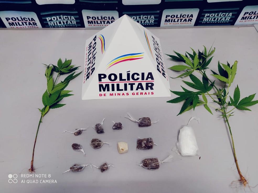 Apreensão de drogas em Operação 'Fecha Região' — Foto: Polícia Militar/Divulgação