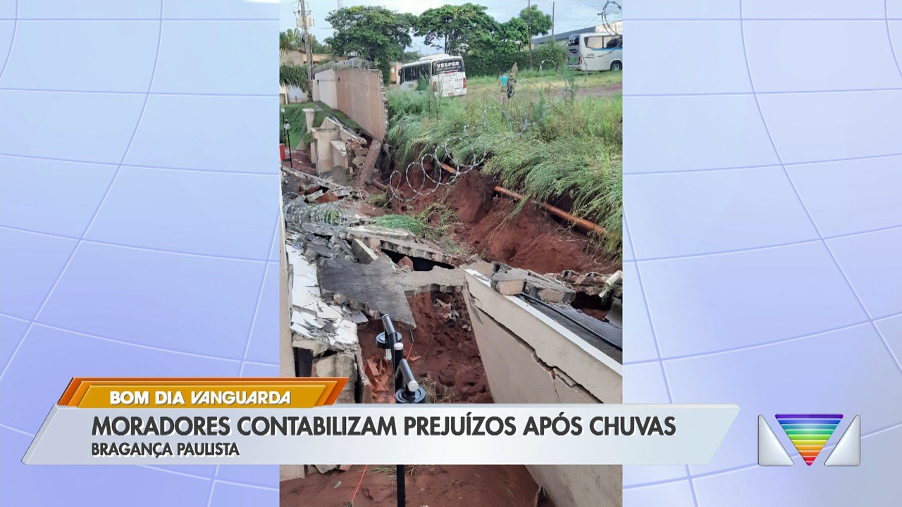 Moradores contabilizam prejuízos após chuvas em Bragança Paulista