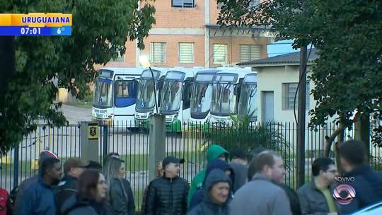 Com paralisação de rodoviários, ônibus não circulam em Novo Hamburgo nesta terça-feira