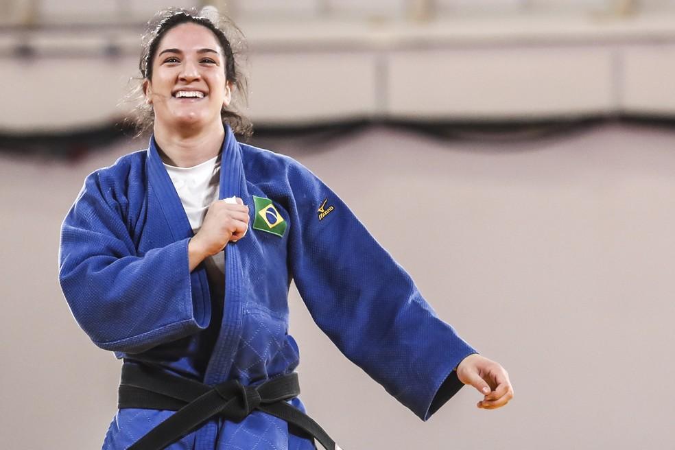 Mayra Aguiar, do judô, luta pela terceira medalha olímpica — Foto: Wander Roberto/COB