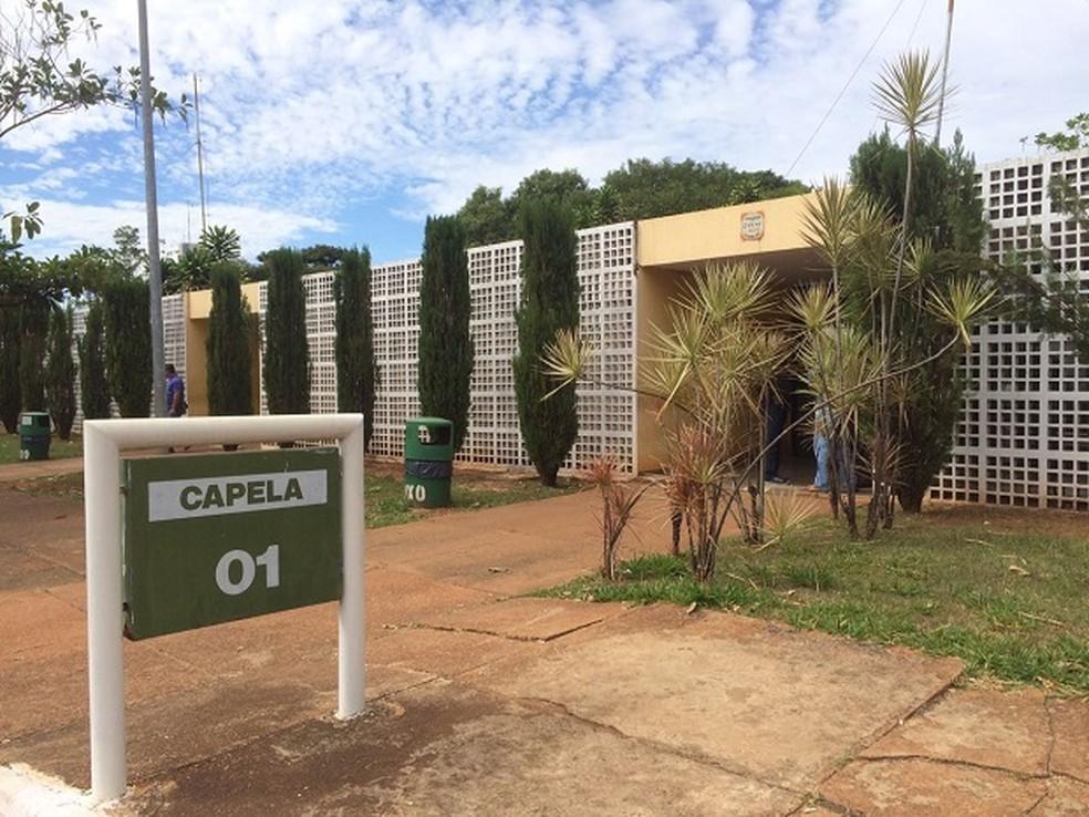 Capela 1 do Cemitério Campo da Esperança, no centro de Brasília (Foto: Mateus Vidigal/G1)