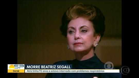 Atriz Beatriz Segall morre aos 92 anos em São Paulo