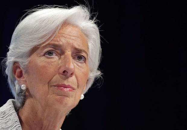 A diretora-gerente do FMI Christine Lagarde durante encontro com Banco Mundial (Foto: Chip Somodevilla/Getty Images)