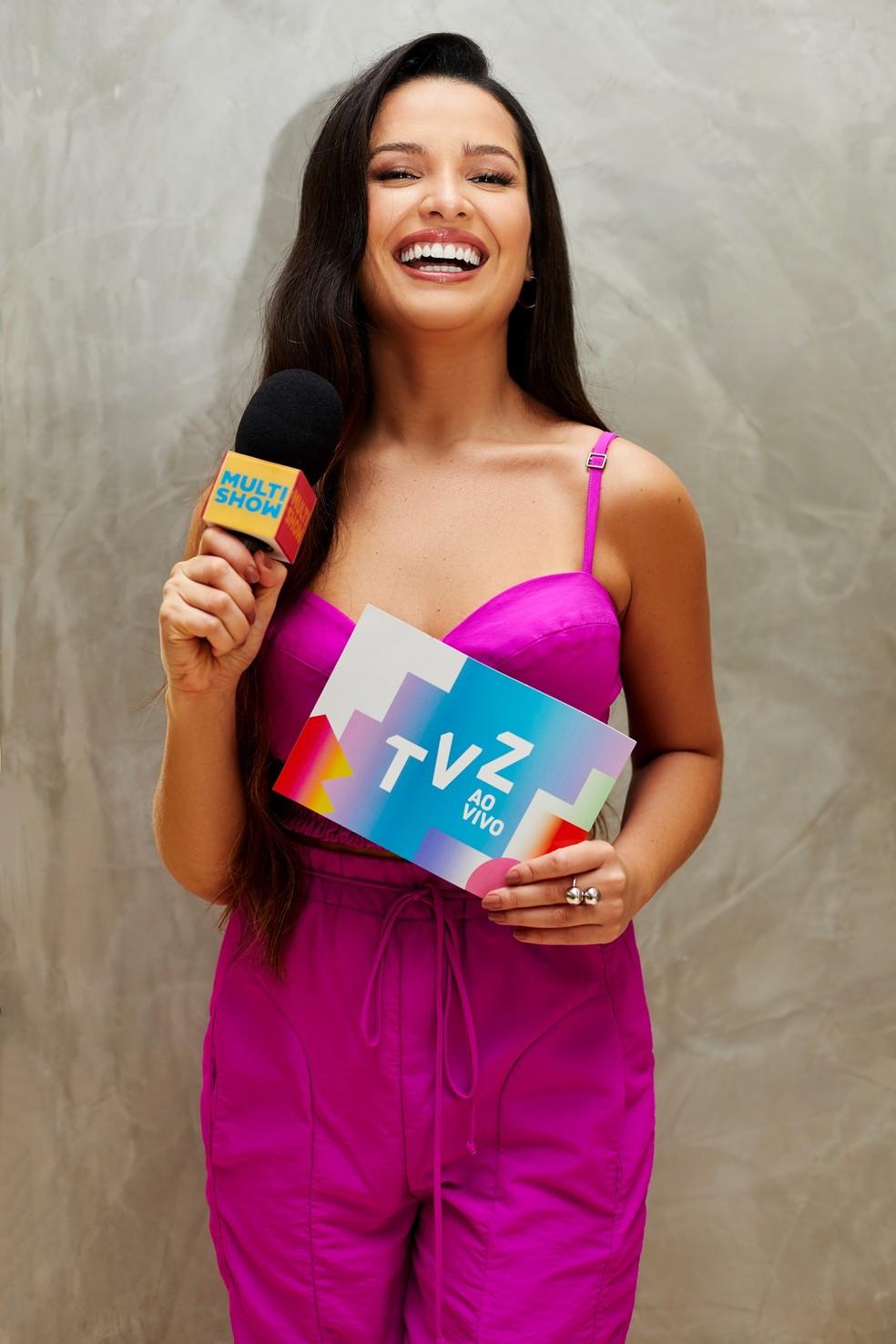 Juliette é a nova apresentadora do TVZ, no Multishow — Foto: Multishow