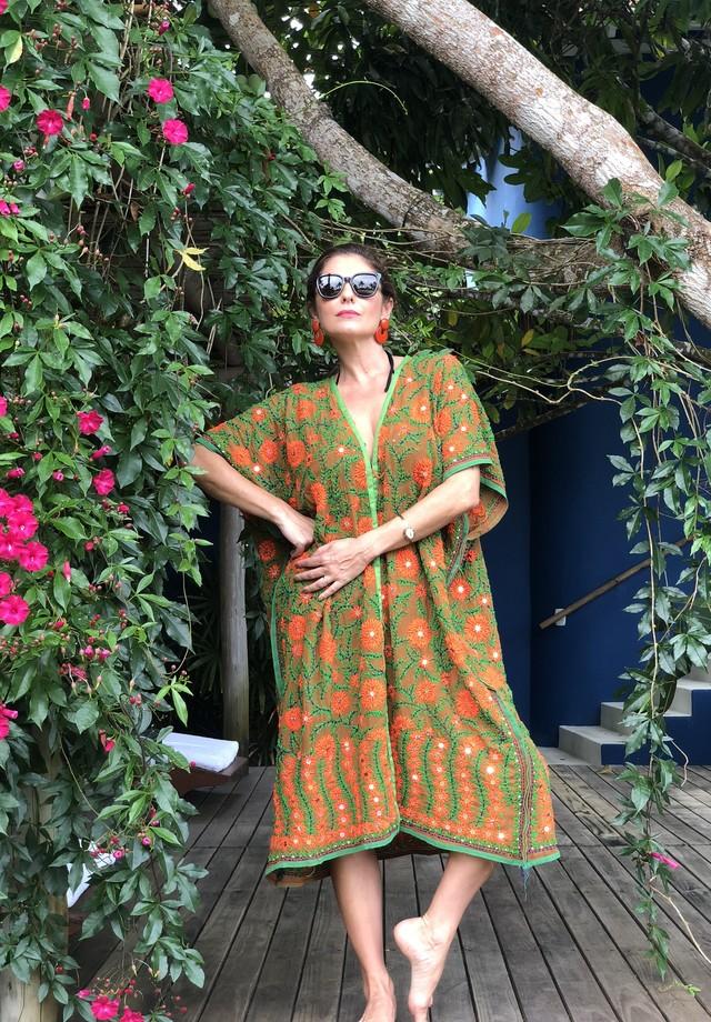 Camilla Guebur em Trancoso (Foto: arquivo pessoal)