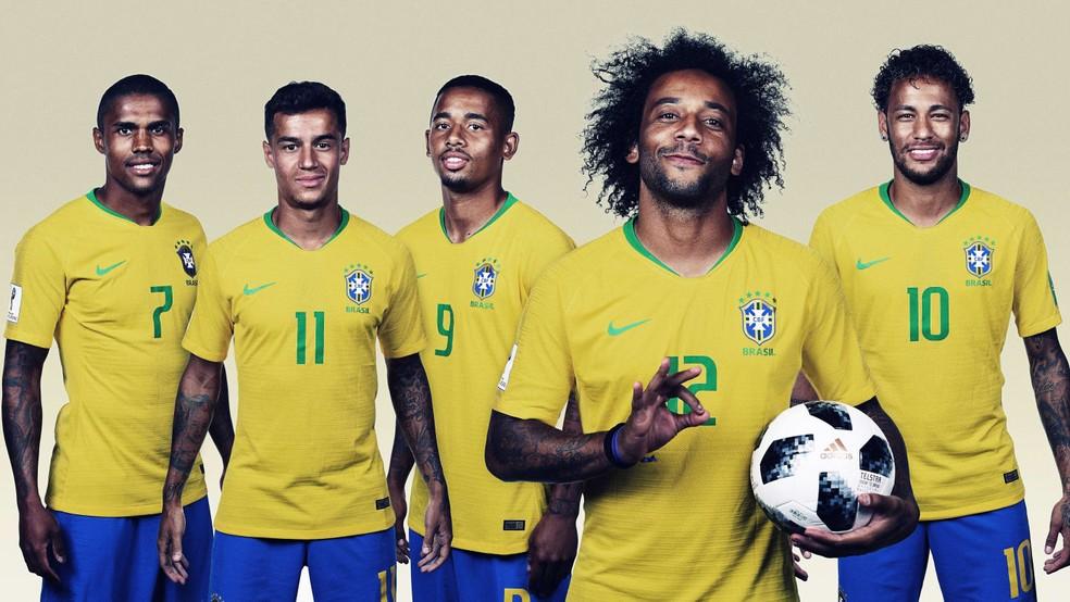 Seleção brasileira na disputa da Copa do Mundo Fifa 2018 (Foto: Getty Images/Divulgação)