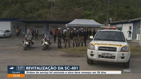 Governador assina ordem de serviço para início das obras de revitalização de trecho na SC-401 em Florianópolis