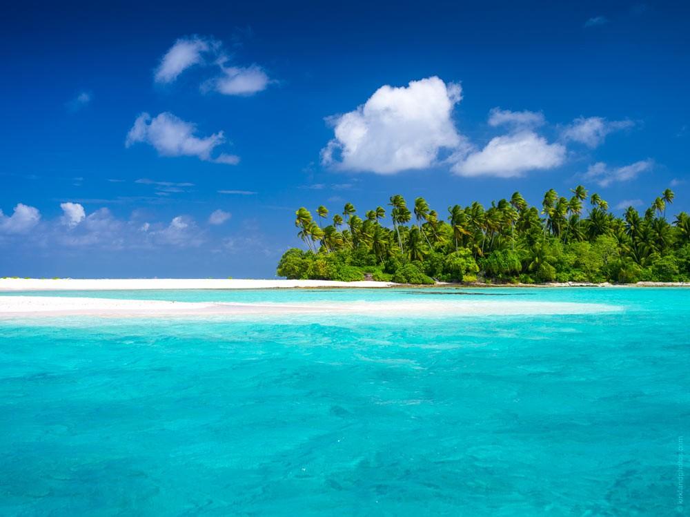 Paisagem de uma das ilhas de Kiribati (Foto: Divulgação)