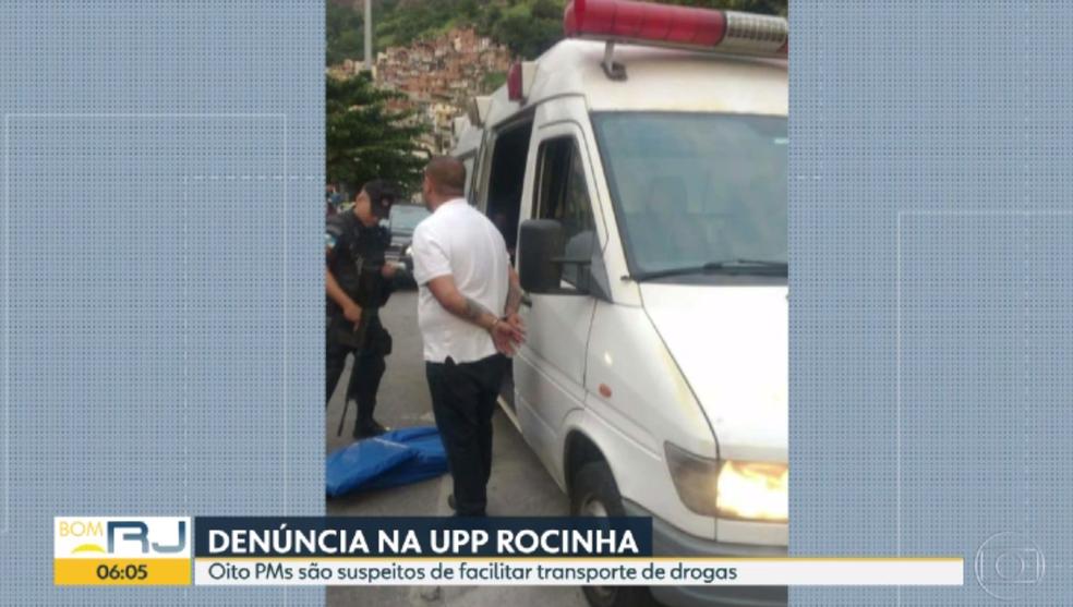 Motorista de ambulância foi preso (Foto: Reprodução)