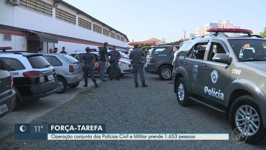 Operação das polícias Civil e Militar cumpre 145 mandados de prisão em cidades da região de Campinas