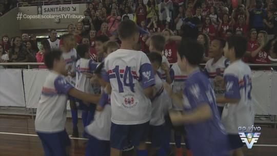 Objetivo Santos e Santa Cecília são os campeões da 17ª Copa TV Tribuna de Futsal Escolar