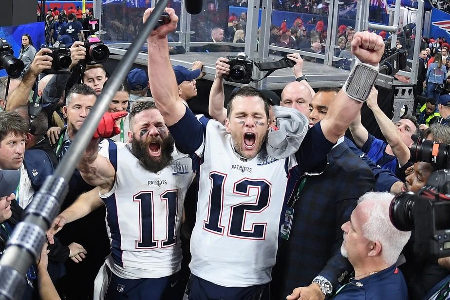 Poucos pontos, muitos recordes: os destaques de mais uma vitória de Tom Brady & Cia no Super Bowl
