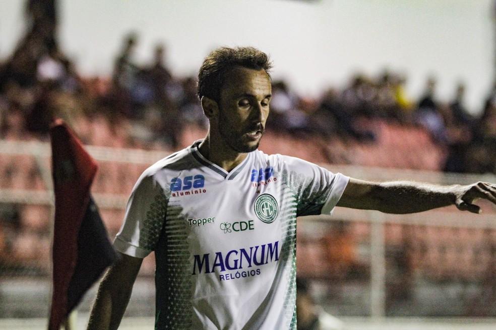 Thiago Ribeiro, atacante Guarani, em jogo contra o Ituano pelo Campeonato Paulista — Foto: Letícia Martins / Guarani FC