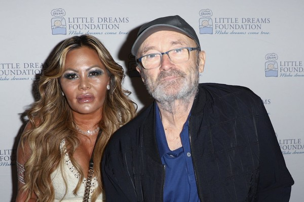 O cantor Phil Collins e sua ex-esposa Orianne Cevey (Foto: Getty Images)